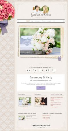 vintage-wedding-theme #weddingwebsite #websitetheme #trends2014