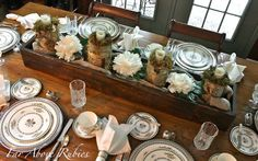 Far Above Rubies: 17 ways to use a long box as a centerpiece
