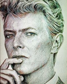 David Bowie by Bj Bilder💗 David Bowie Tribute, David Bowie Art, David Bowie Fashion, Bowie Tattoo, Christina Rossetti, Tv Show Music, Eye Painting, Makeup Eyes, Warhol