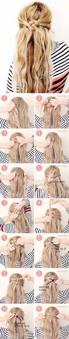 celtic knot braids make such cute hairstyles for long hair!