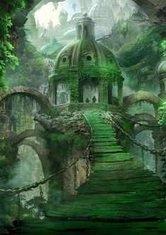 Landscape architecture concept dungeons and dragons 16 ideas Fantasy City, Fantasy Places, Fantasy Kunst, Fantasy World, Fantasy Island, Fantasy Art Landscapes, Fantasy Landscape, Landscape Art, Landscape Architecture