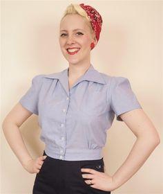 1940's Work Blouse http://www.freddiesofpinewood.co.uk/categories/ladies/8-tops?fes_page=5