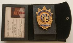 """Police badge from """"Barney Miller"""" television show """"Barney Miller,"""" portrayed by actor Hal Linden (born in 1931,) was Captain of New York City's fictional 12th Precinct Detective's Office. The comedy was broadcast on ABC from 1975-1982."""