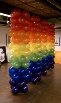 more rainbow balloons!