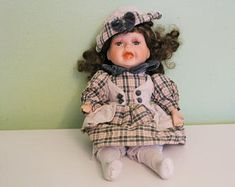 Vintage Porcelain Kein Spielzeug Character Face Doll Germany Emotional Doll Collectible Home Decor by Grandchildattic on Etsy