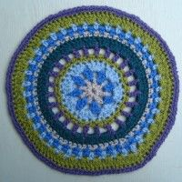 Crochet Mandala Wheel made by Sally, Peterborough, UK for yarndale.co.uk