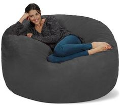 Chill Bag – Bean Bags Bean Bag Chair, 5-Feet, Charcoal #beanbag #beanbagchair The Chill bag is great for your kids as they watch TV or their favorite movies or when they play video games. It is also great at relieving stress. It is ideal for one child or adult, although it can still fit two adults. It can also fit well in the dorm or family room, as well as in the basement.