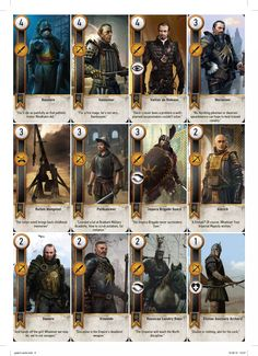 Complete Printable GWENT Cards High Resolution - Imgur