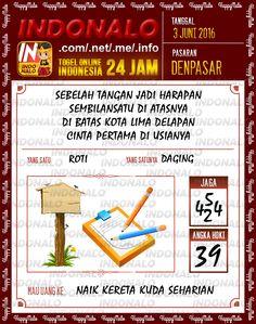 Prediksi Togel Online Live Draw 4D Indonalo Denpasar 3 Juni 2016