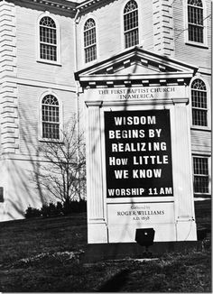 I hate being narcissistic and repinning my own photo, but I really love this church sign.