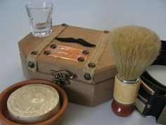 Shaving Kit with hand made olive oil soap in gift by myturquality, $34.90