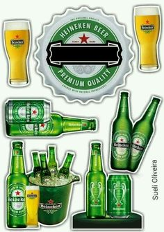 List of attractive toppers de bolo adulto cerveja ideas and photos Cake Logo, Paper Cake, Cake Toppings, Birthday Cake Toppers, Cake Designs, Cake Decorating, Bolo Budweiser, Food Tags, 3d Letters