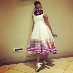 My fav lady Sepedi Traditional Dresses, African Traditional Wear, Short African Dresses, African Fashion Dresses, African Clothes, Xhosa Attire, African Attire, African Shop, African Women