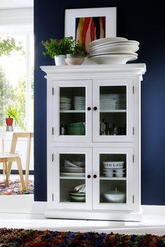 White Mahogany Furniture : 2-Level White Pantry www.novasolo.com
