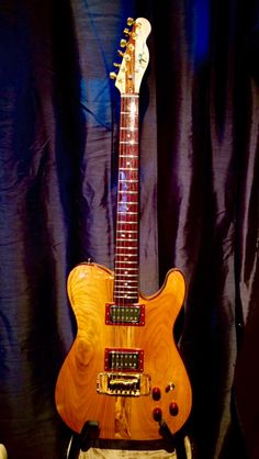 Henrik liep handmade guitar Cherry tele. Made from very old local ash , cherry, and purple heart