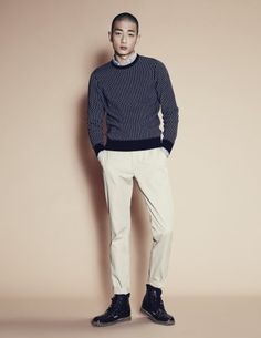 Park Sung Jin by Mok Jung Wook for W Korea Sept 2014 Park Sung Jin, W Korea, Korean Fashion, Singing, Normcore, Turtle Neck, K Fashion, Korea Fashion, Korean Fashion Styles