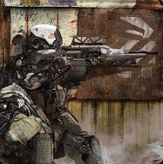 More Stunning Sci-Fi Military Cyborg Art — GeekTyrant