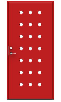 Rød moderne ytterdør Domino fra Swedoor Office Supplies, Doors, Design, Modern, Doorway, Gate