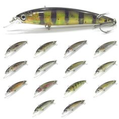 wLure Minnow Inner Reflection Foil RealSkin Painting Weight Transfer System 2X Strong Treble Hooks 15g 11cm Fishing Lure HM600