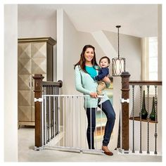 Regalo Top of Stairs Baby Gate, White