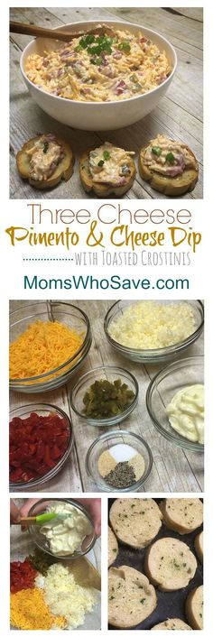 Three Cheese Pimento and Cheese Dip | MomsWhoSave.com #recipes #appetizers