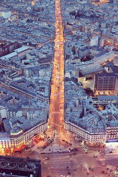 Paris before dark, from the Montparnasse tower