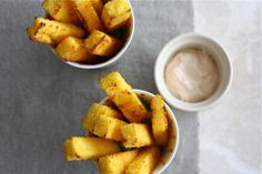 Baked Polenta Fries with Spicy Lime Mayo