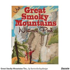 Great Smoky Mountains Travel Poster. Poster