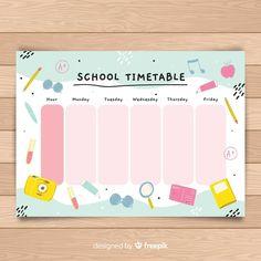 Timetable Planner, Timetable Template, School Timetable, Kids Planner, School Planner, Planner Doodles, Pop Stickers, Planner Sheets, Preschool Education