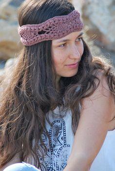 Hippie crochet headband, festival hair by SexyCrochet on Etsy