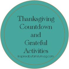thanksgiving countdown activities for the whole family