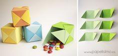 Caja de papel origami tipo PUZZLE paso a paso