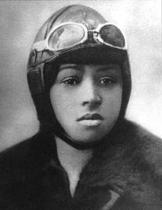 Bessie Coleman, first African-American pilot to hold international flight license.