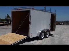 Enclosed Trailer 7'x14' White - V-Nose Lawn Mower Cargo Trailer - http://sleequipment.com/news/enclosed-trailer-7x14-white-v-nose-lawn-mower-cargo-trailer/