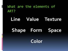 The elements and principles of design are the building blocks used to create a work of art.  The elements of design can be thought of as the things that make up  a painting, drawing, design etc....