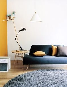greys, muted yellow & blues. Simple. Pretty.