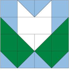 Tea Leaf Quilt Block Pattern
