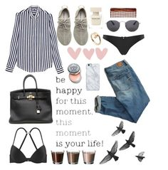Be happy for this moment by miriamhr on Polyvore featuring polyvore fashion style Tommy Hilfiger American Eagle Outfitters adidas Originals Cartier Uncommon Narciso Rodriguez Mason Pearson Bobbi Brown Cosmetics Hermès clothing