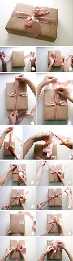 圣诞礼物包装:如何打蝴蝶结 #手工# #...