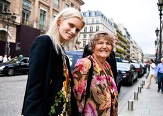 Australian top model Abbey Lee Kershaw and her grandmother Betty After Hakaan S/S 2012. It was so sweet seeing Abbey with her grandma Betty around Paris… <3
