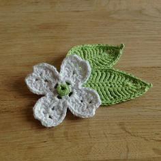 Dogwood Flower and Leaf ~ free pattern