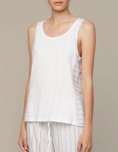 Top with side stripe detail - T-shirts - Sleepwear - SHOP BY CATEGORY - United Kingdom