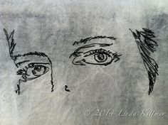 Thread sketching - it's all in the eyes ...