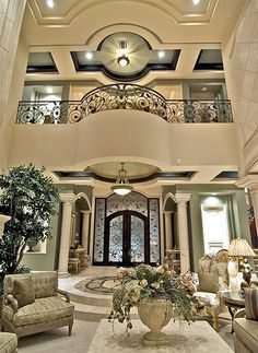 I love the iron work detail. Love the classic elements/ Mansion Interior, Dream House Interior, Luxury Homes Dream Houses, Luxury Homes Interior, Home Interior Design, Classic House Exterior, Classic House Design, Dream Home Design, My Dream Home
