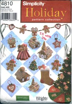NO Sew Felt Heigl pattern centerpiece ornie tree skirt topper