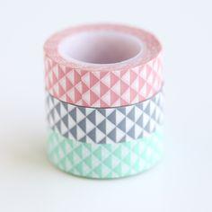 Geo Pastel Washi Tape Set - Whimseybox Shop