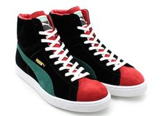 Puma Suede Mid Made in Japan 2012...a little color never hurt