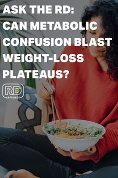 """Metabolic confusion is based on the idea that varying calorie intake between higher and lower amounts may """"confuse"""" the body and speed up metabolism, making weight loss easier. It is especially targeted toward those who may have experienced weight-loss plateaus or difficulty losing weight with other methods. Here, we ask the dietitian  (RD) about if metabolism confusion can cause an issue with weight loss, healthy eating tips, and nutrition tips. #MyFitnessPal #asktherd #weightloss"""