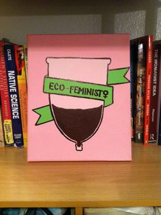 Menstrual Cup Eco Feminist Painting by SWBookstore on Etsy