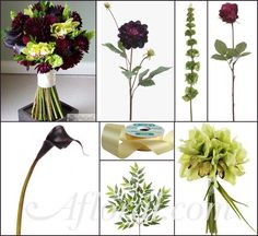 Elizabeth's Dark Purple Burgundy & Green Autumn Wedding Flower Inspiration Board | Afloral.com Wedding Blog